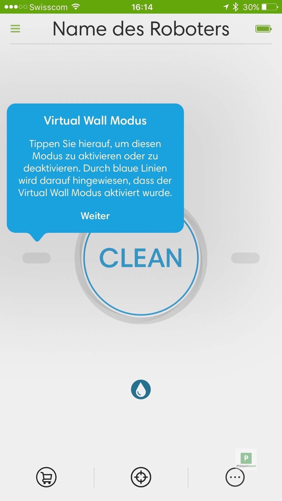 Anleitung zum Konfigurieren - Virtual Wall Modus aktivieren