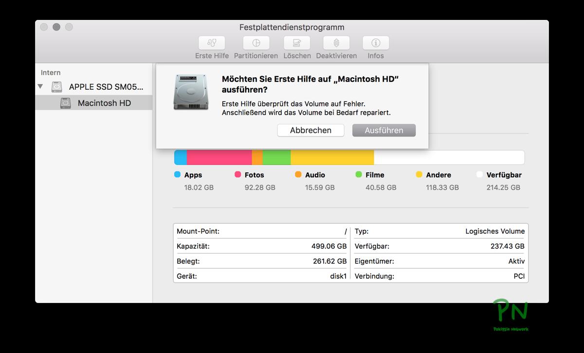 Festplattendienstprogramm Teil 1 - Überprüfen und Reparieren