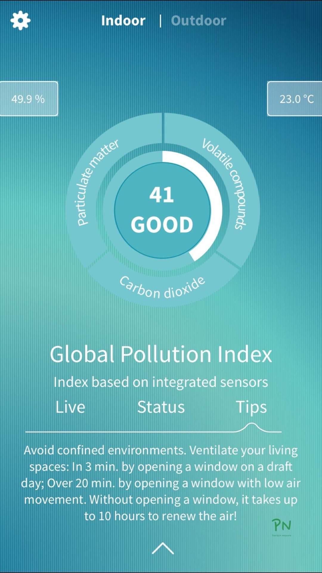 Luftqualität im Innenbereich