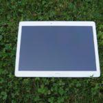 Das Tablet von der Front