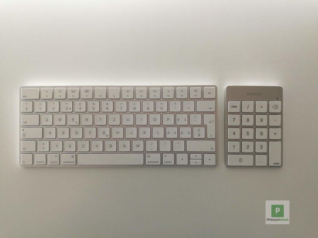 Das Keypad und das Apple Keyboard