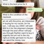 Chat mit der lieben MacBook Käuferin