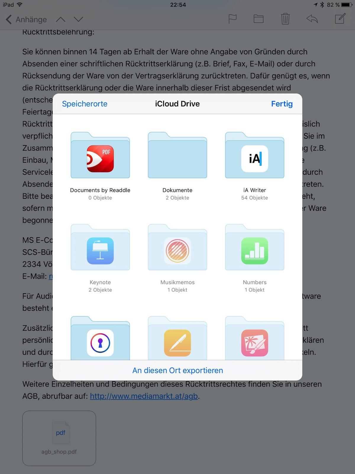 Tutorial - Anhänge in iCloud sichern