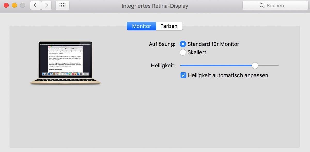 Tutorial – Auflösung unter OS X anpassen