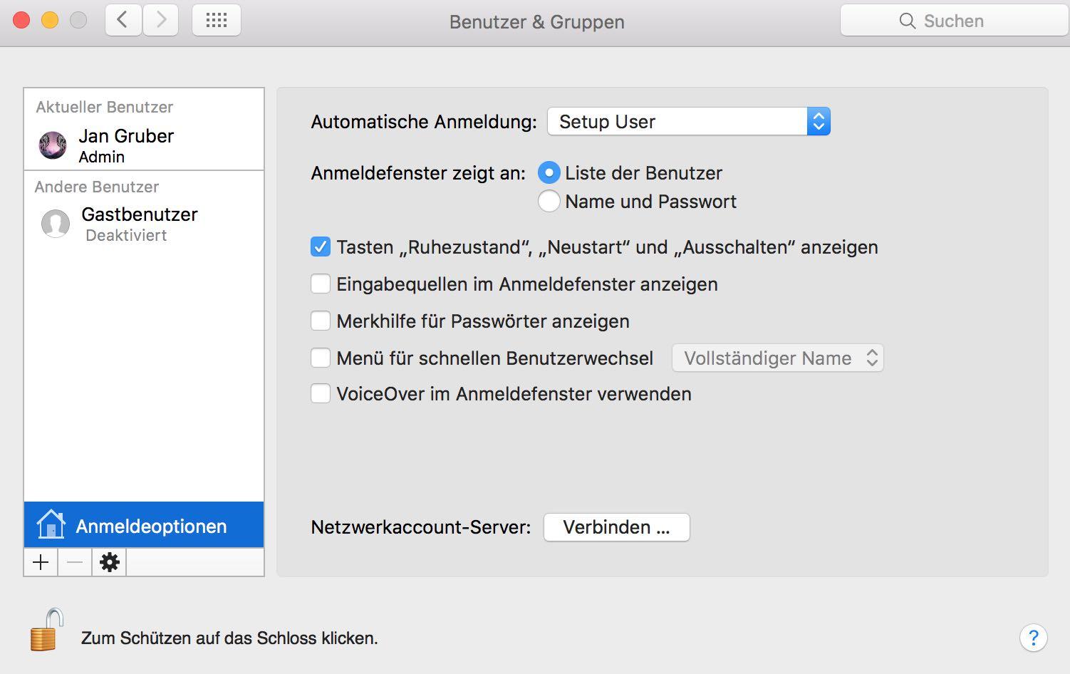 Tutorial: Mac Autologin aktivieren