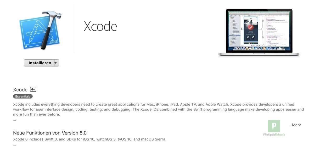 XCode im MacAppStore