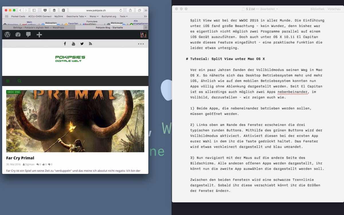 Tutorial – Split View unter Mac OS X