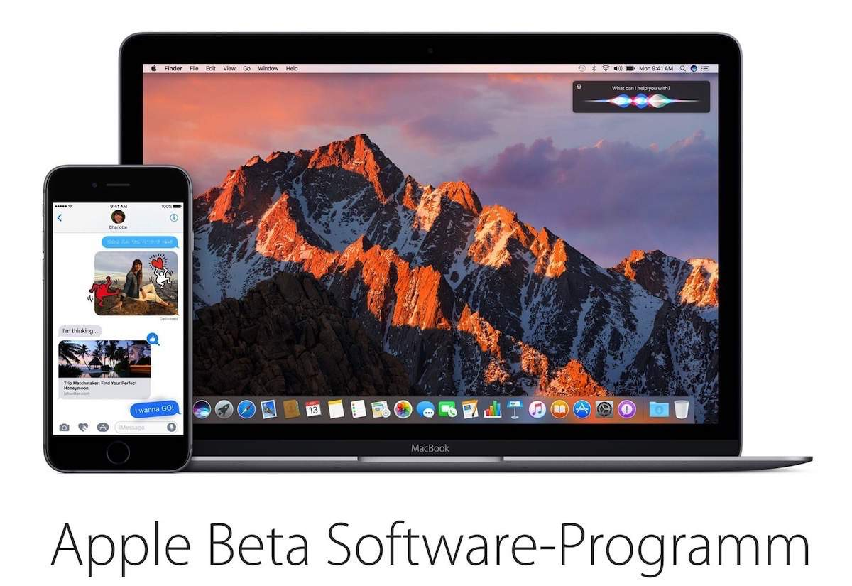 iOS 10 und macOS Sierra Public Beta