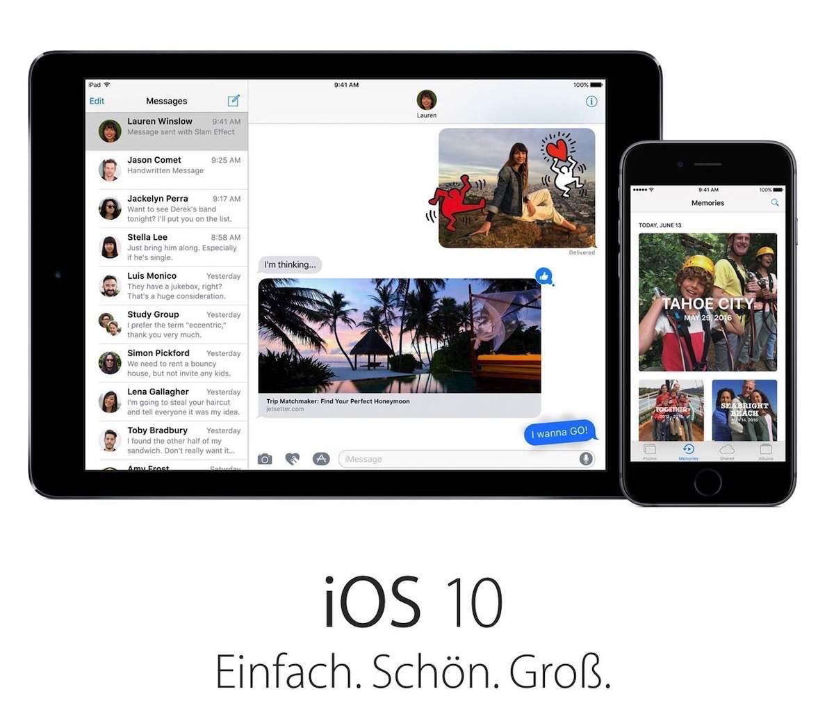 iOS 10 und macOS Sierra Public Betav