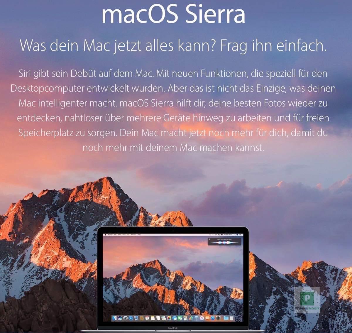 macOS Sierra – Neuerungen und Details