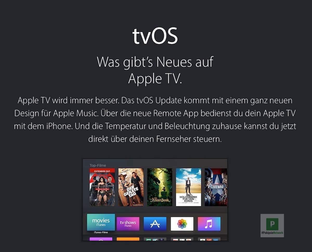 tvOS 10 – Neue Features und Änderungen