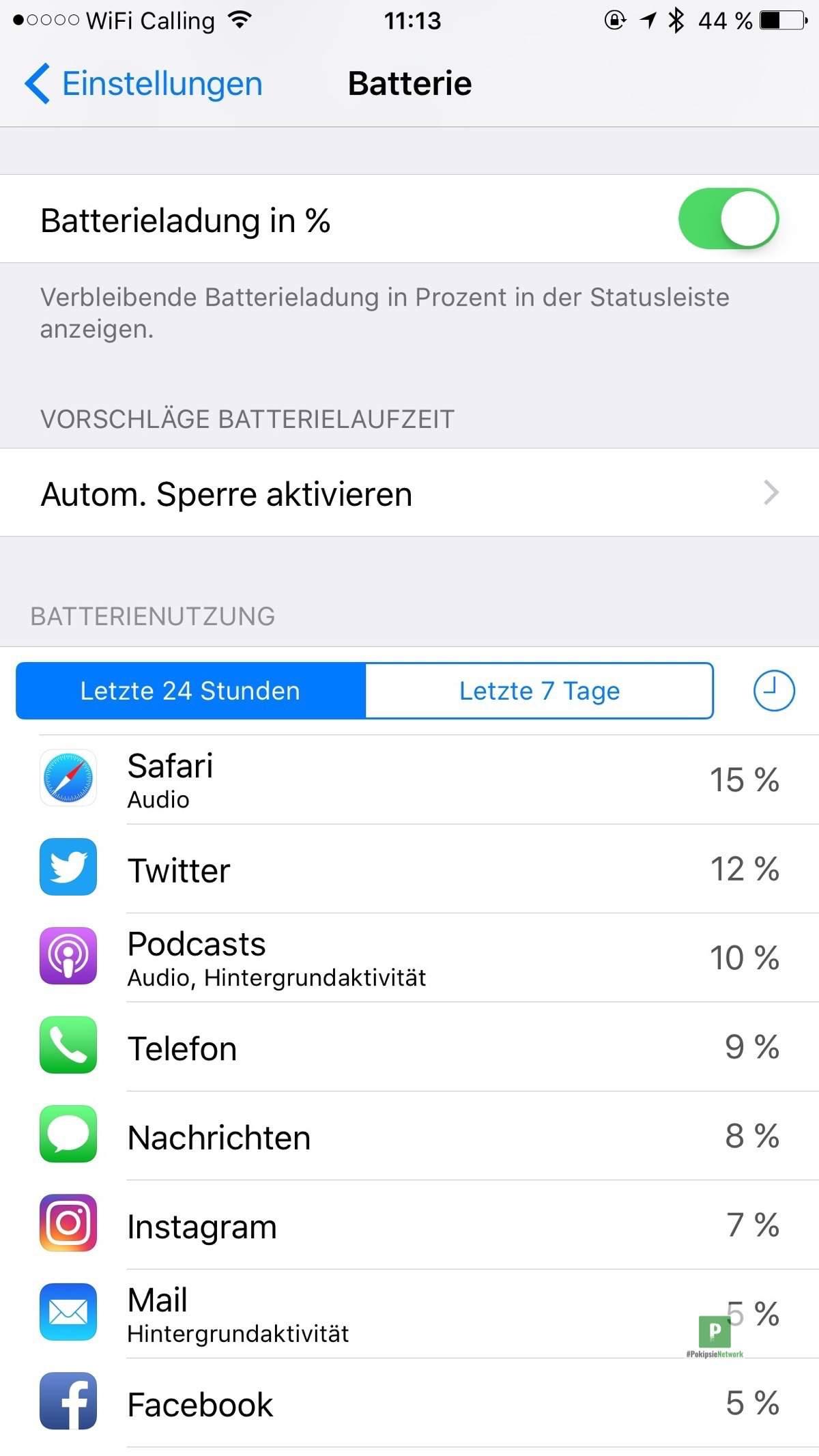 Akku Probleme? Stromverbrauch von Apps unter iOS checken