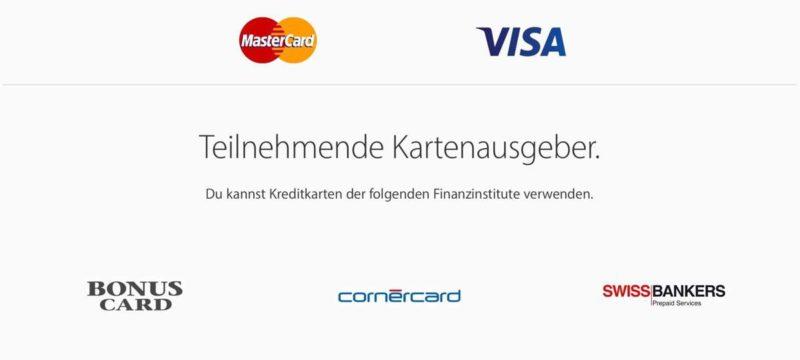 Apple Pay in der Schweiz – Welche Kreditkarten könnt ihr verwenden?
