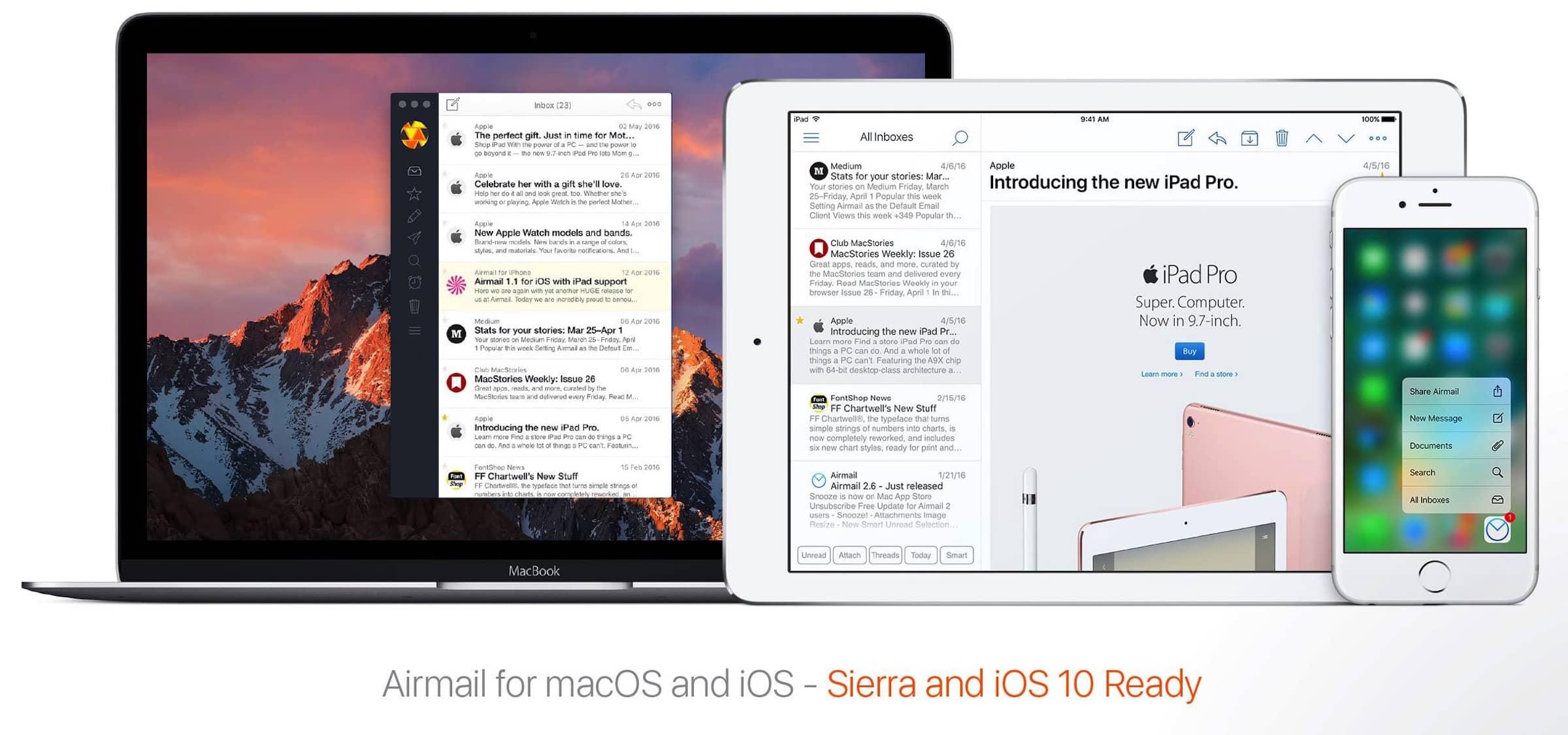 Airmail 1.5 für iOS