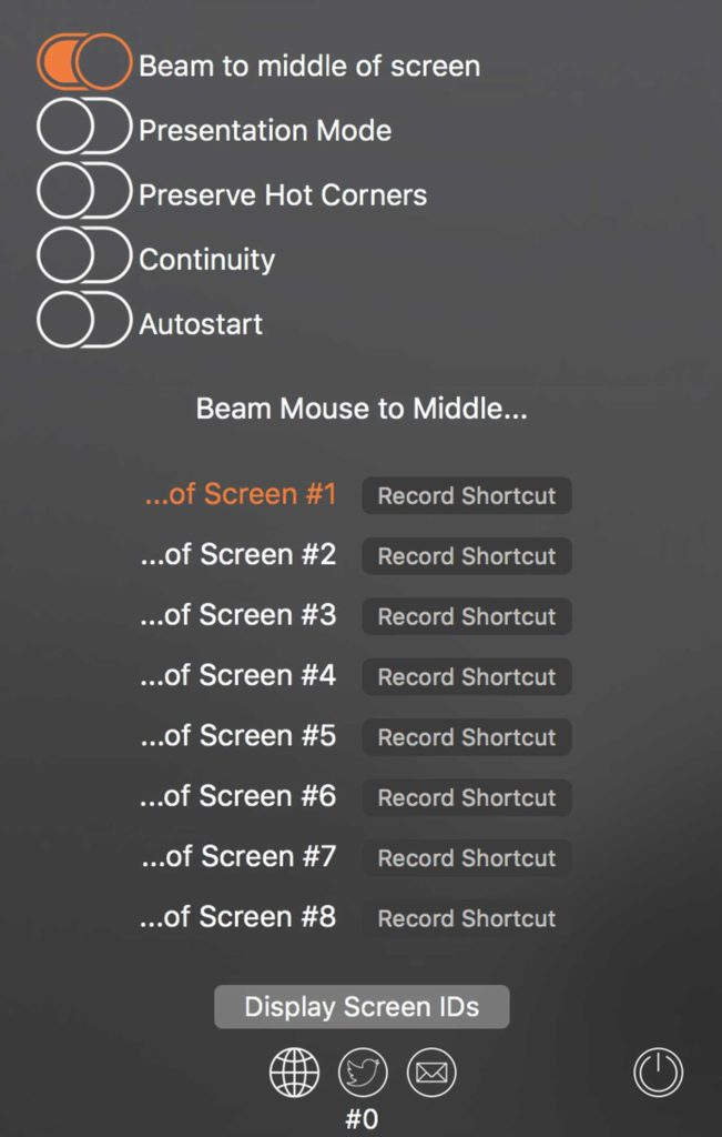 Shortcuts festlegen