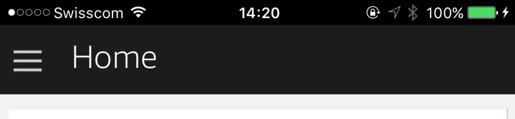 Menü der Alexa App
