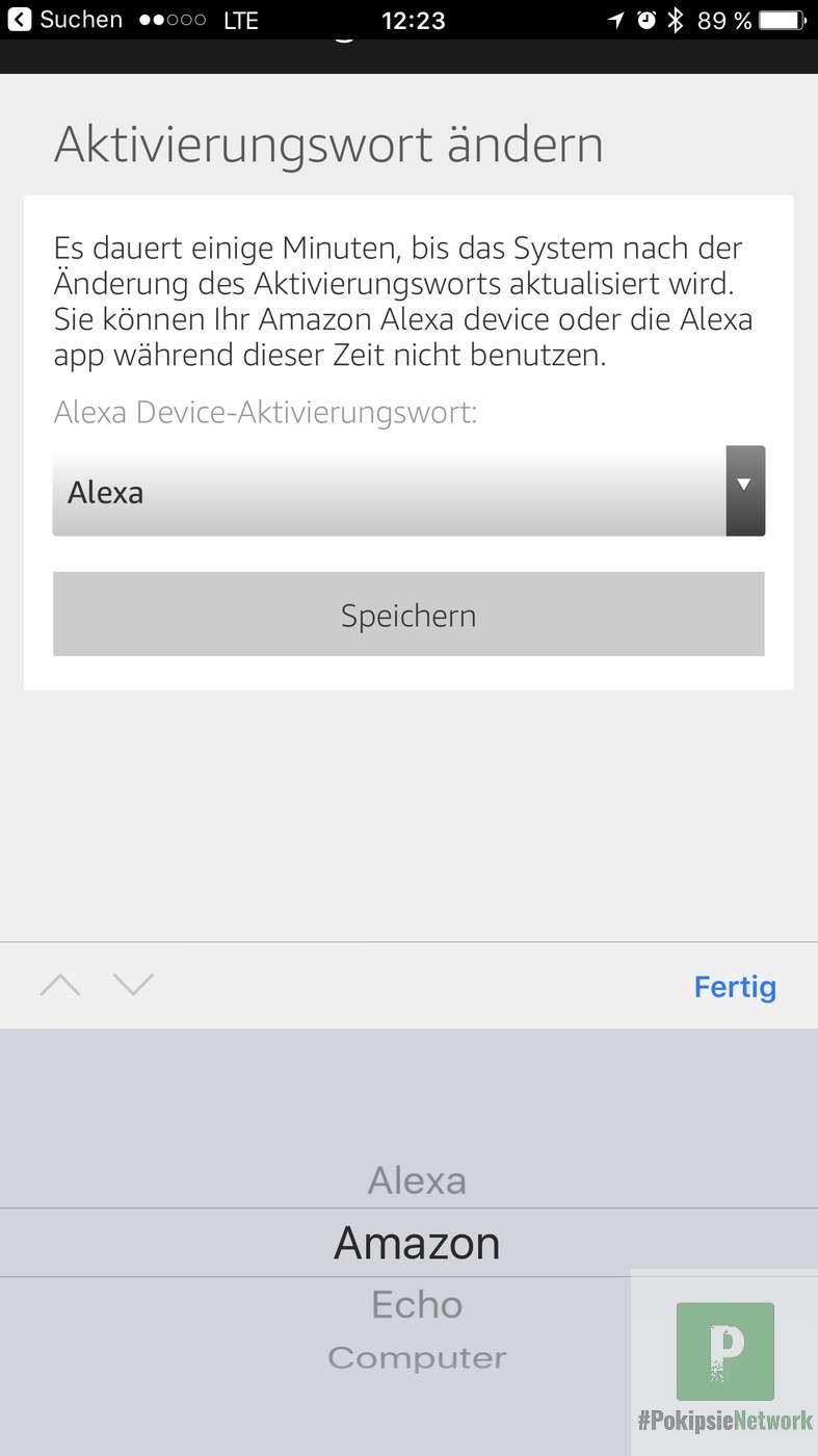 Alexa Aktivierungswort ändern
