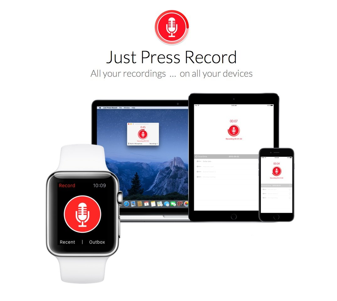 Just Press Record – Audio Notizen einfach erfassen und Transkribieren
