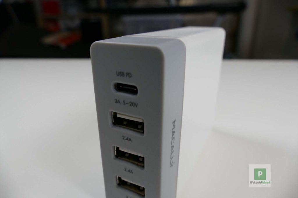 der USB-C-Port und drei mal USB-Ports