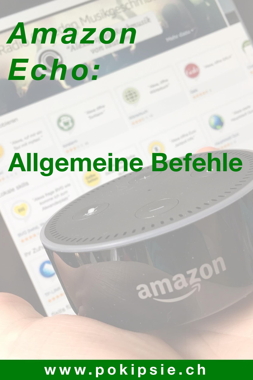 Amazon Alexa – Allgemeine Befehle