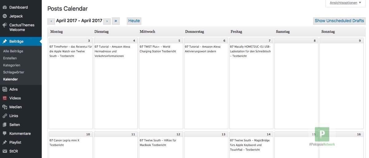 Editorial Calendar – Mit Redaktionsplan im WordPress arbeiten
