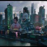 New Port City im Licht der Werbung und Hologramme