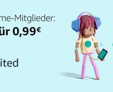 Amazon Music Unlimited für Prime Mitglieder nur 99 Cent für vier Monate