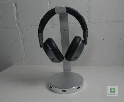 Satechi Aluminum Kopfhoerer Ständer inkl USB Hub