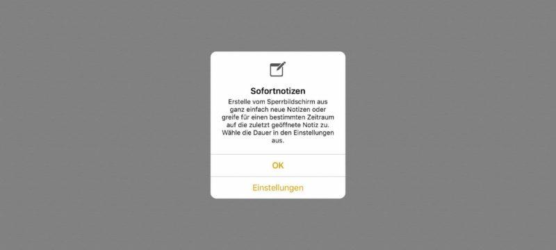 Tutorial iOS 11 Notizen im Sperrbildschirm