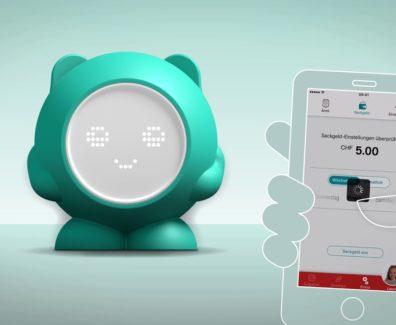 Credit Suisse Viva Kids – das Banking-Paket mit Digipigi, dem digitalen Sparkässeli