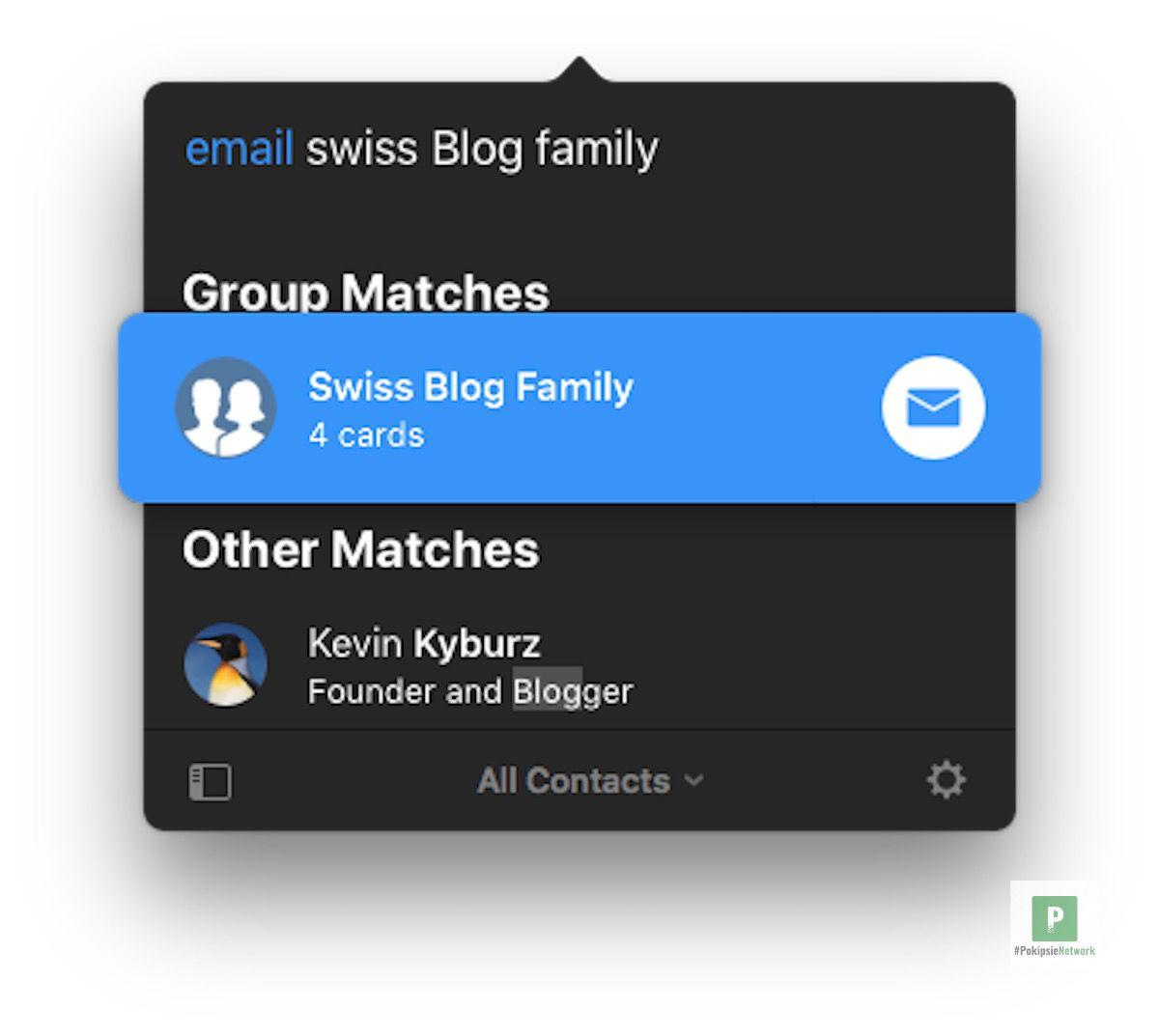 Einfaches anschreiben von Gruppen