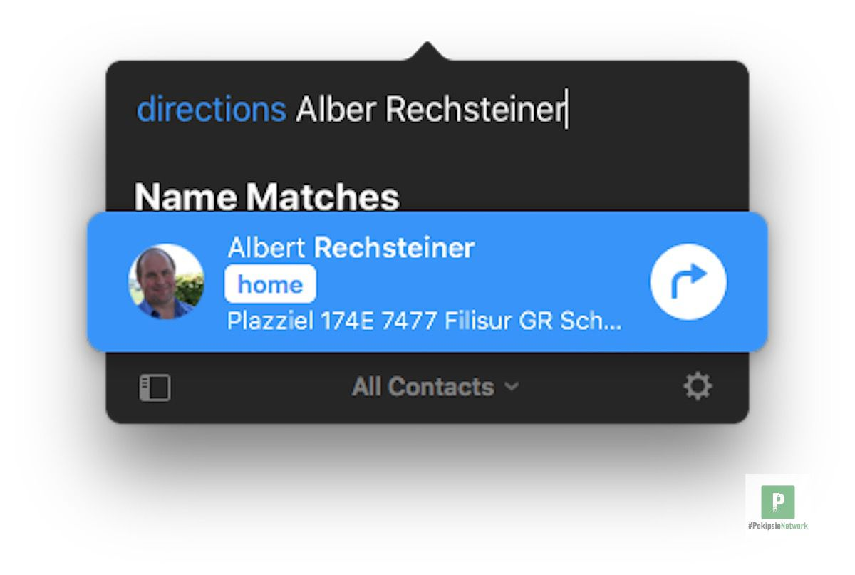 Navigation zu einem deiner Kontakte
