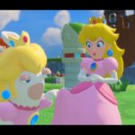 Rabbid-Peach trifft Peach