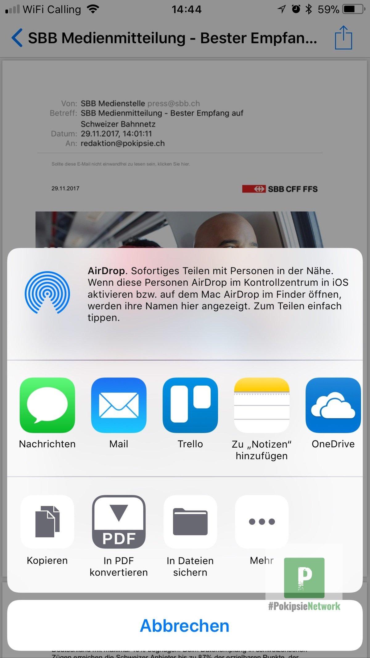 Tutorial – eMails auf dem iPhone in PDF umwandeln