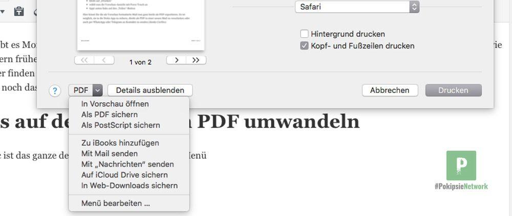 Tutorial - eMails auf dem iPhone in PDF umwandeln