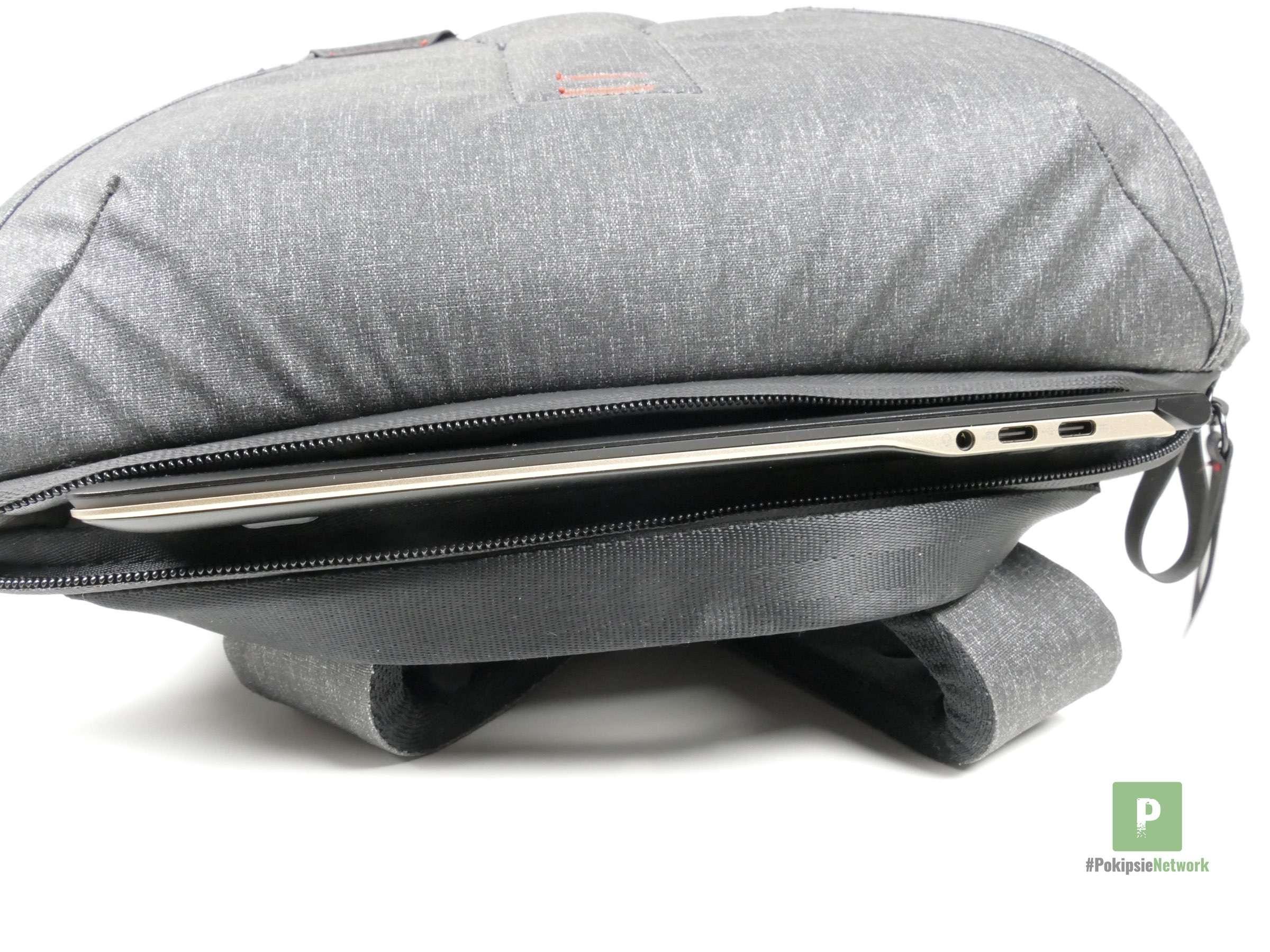 Ultra dünn und fällt im Rucksack kaum auf