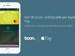 Mit der Boon Kreditkarte Apple Pay nutzen – neue Preisstruktur