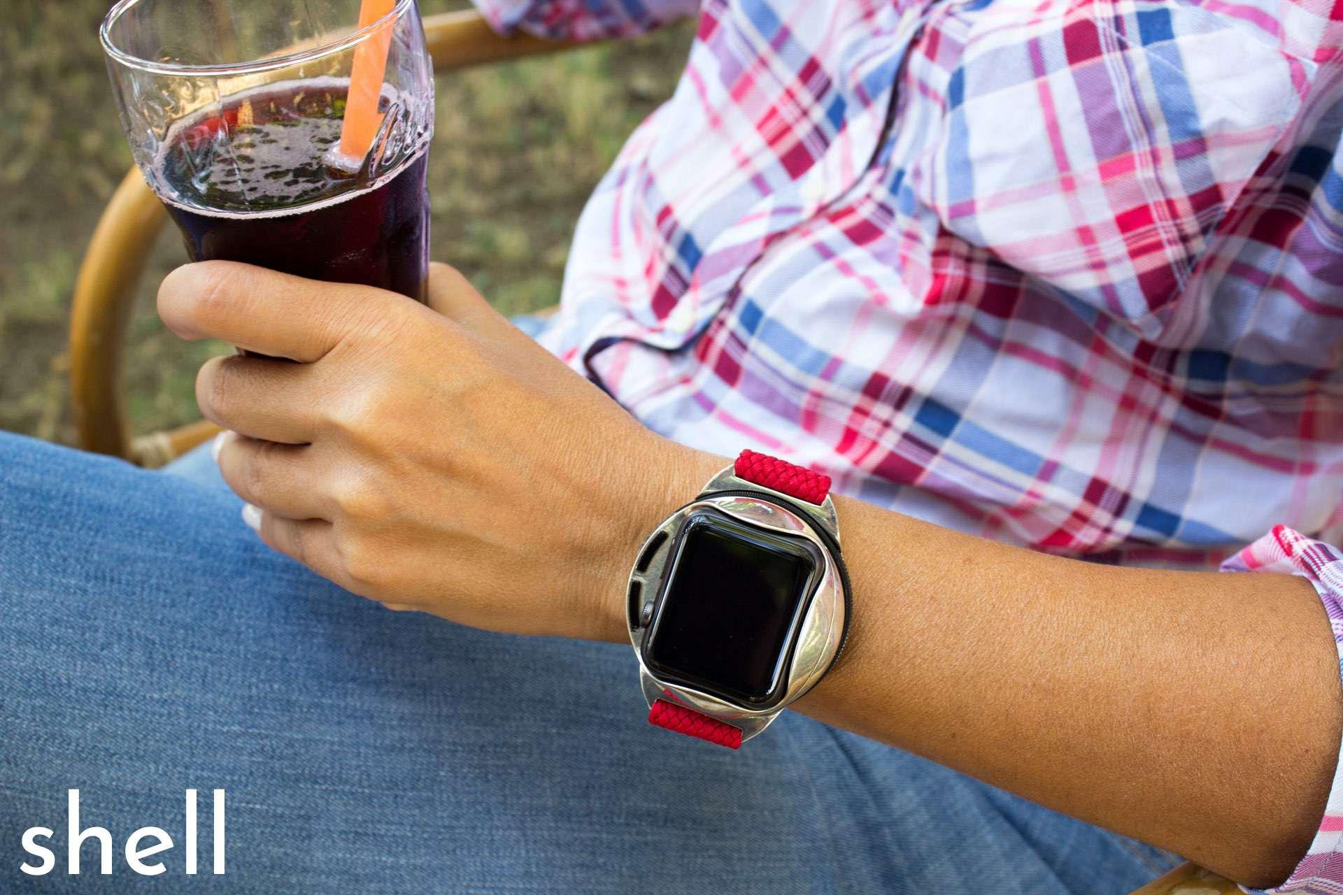 Bestückt mit einer Apple Watch