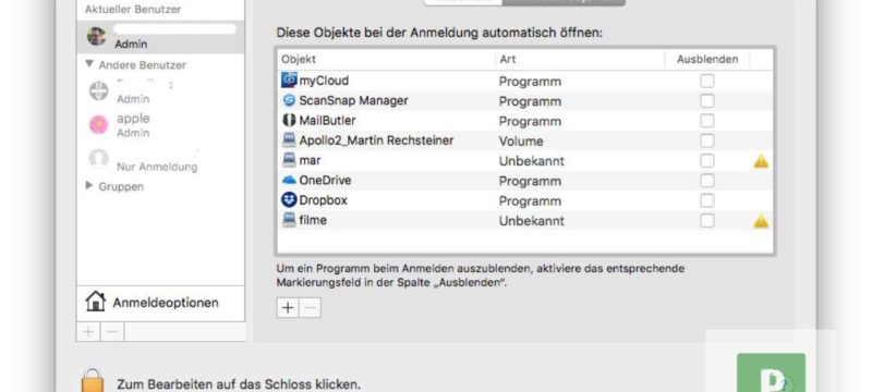 macOS Tutorial – NAS automatisch verbinden