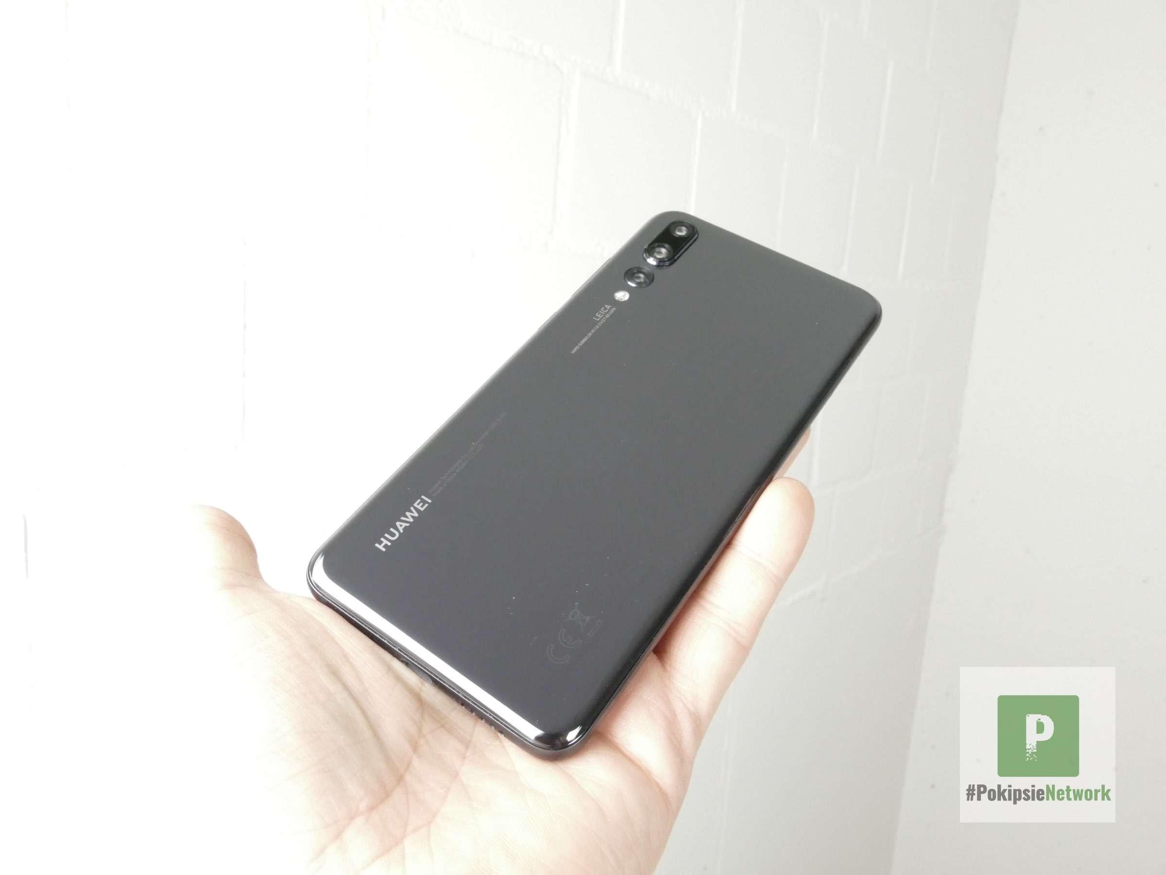 Die Rückseite des Huawei P20 Pro in schwarz