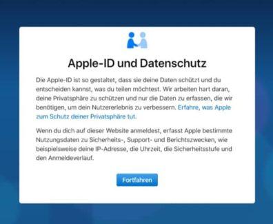 DSGVO Apple Daten anfordern