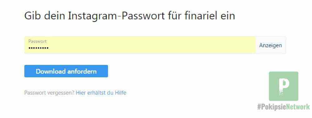 Erneute Passworteingabe