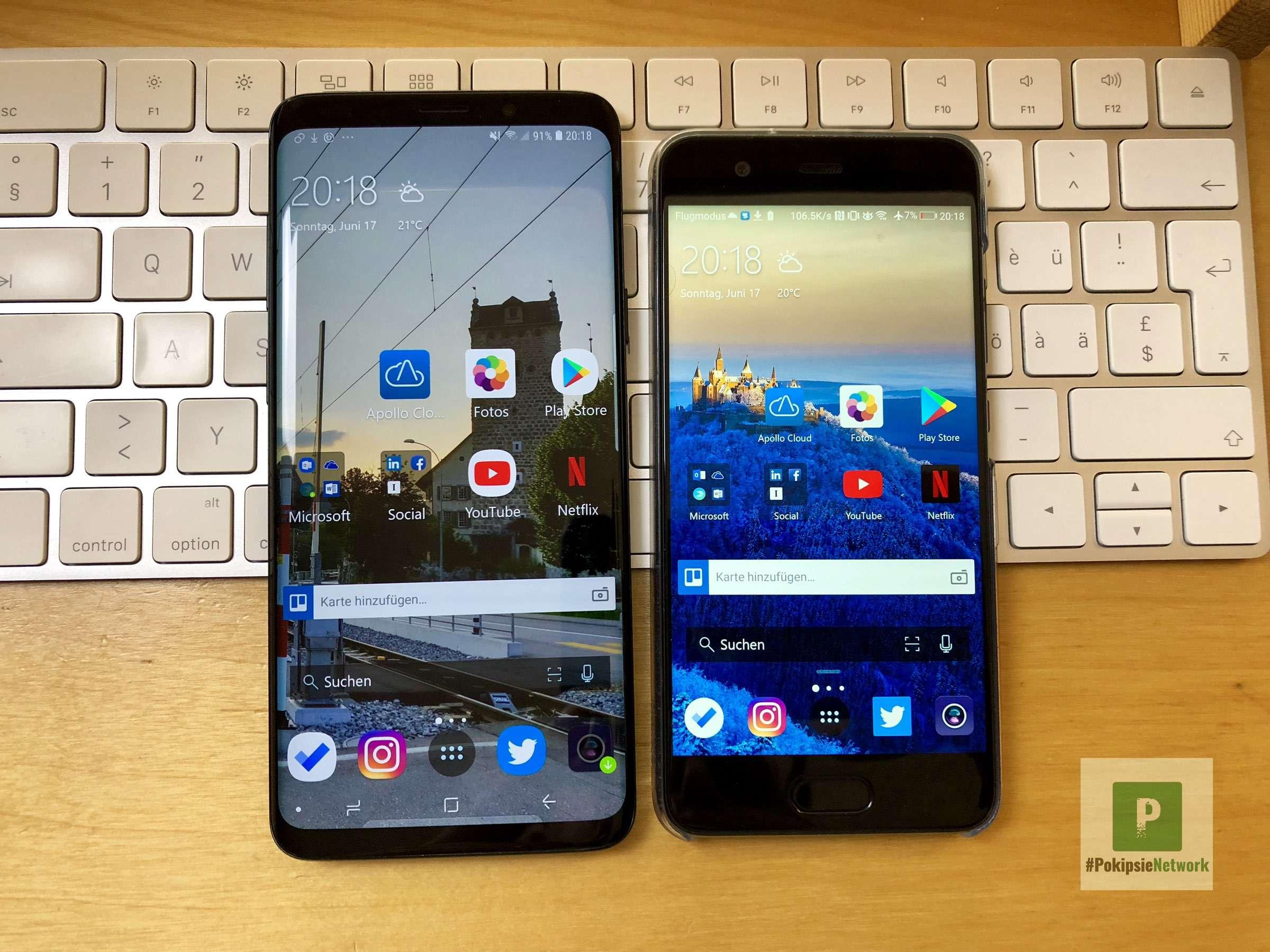 Microsoft Launcher - meine Launcher Wahl auf Android - Beide Smarpthones
