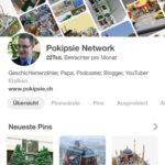 Zuerst auf das Pinterest Profilbild klicken