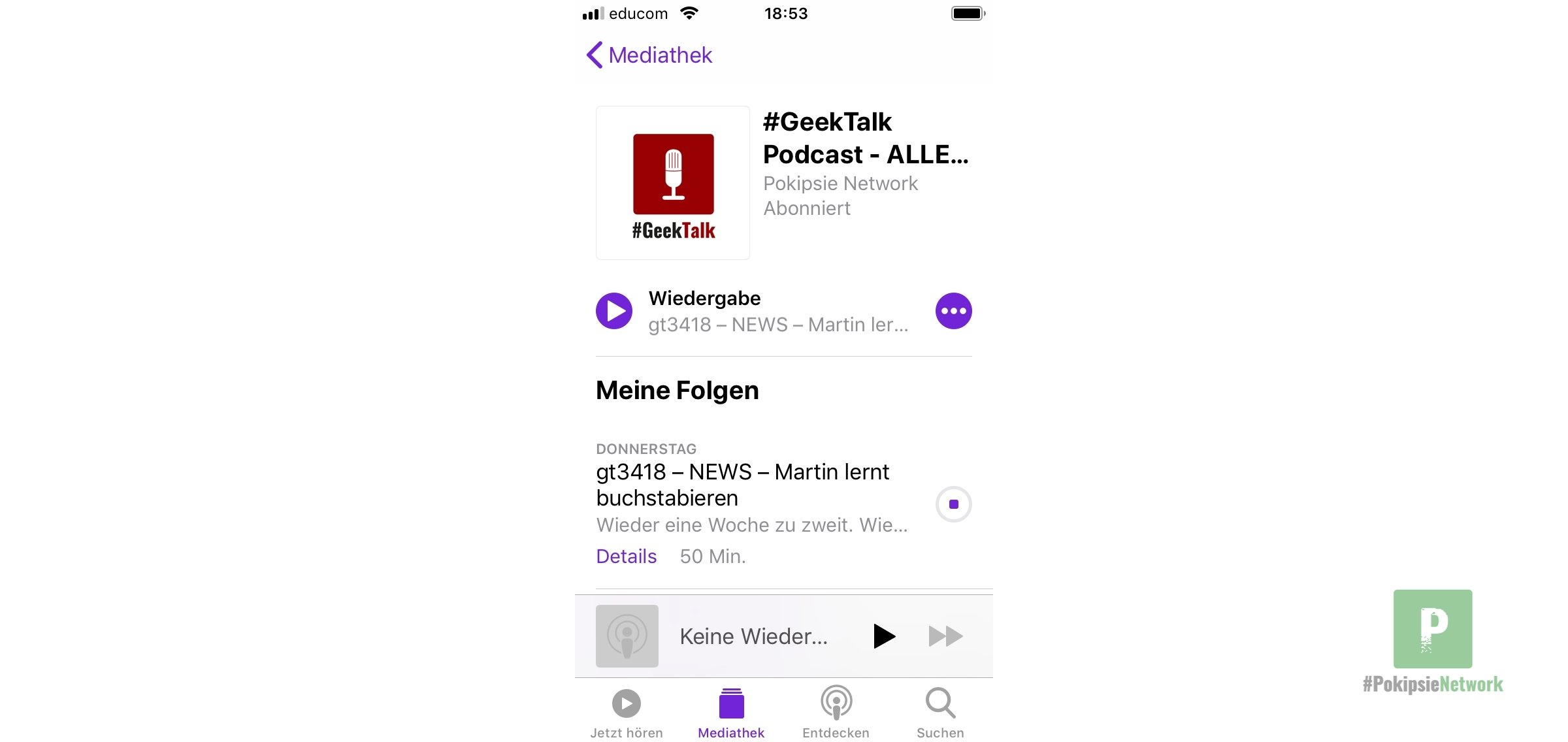 Podcastansicht
