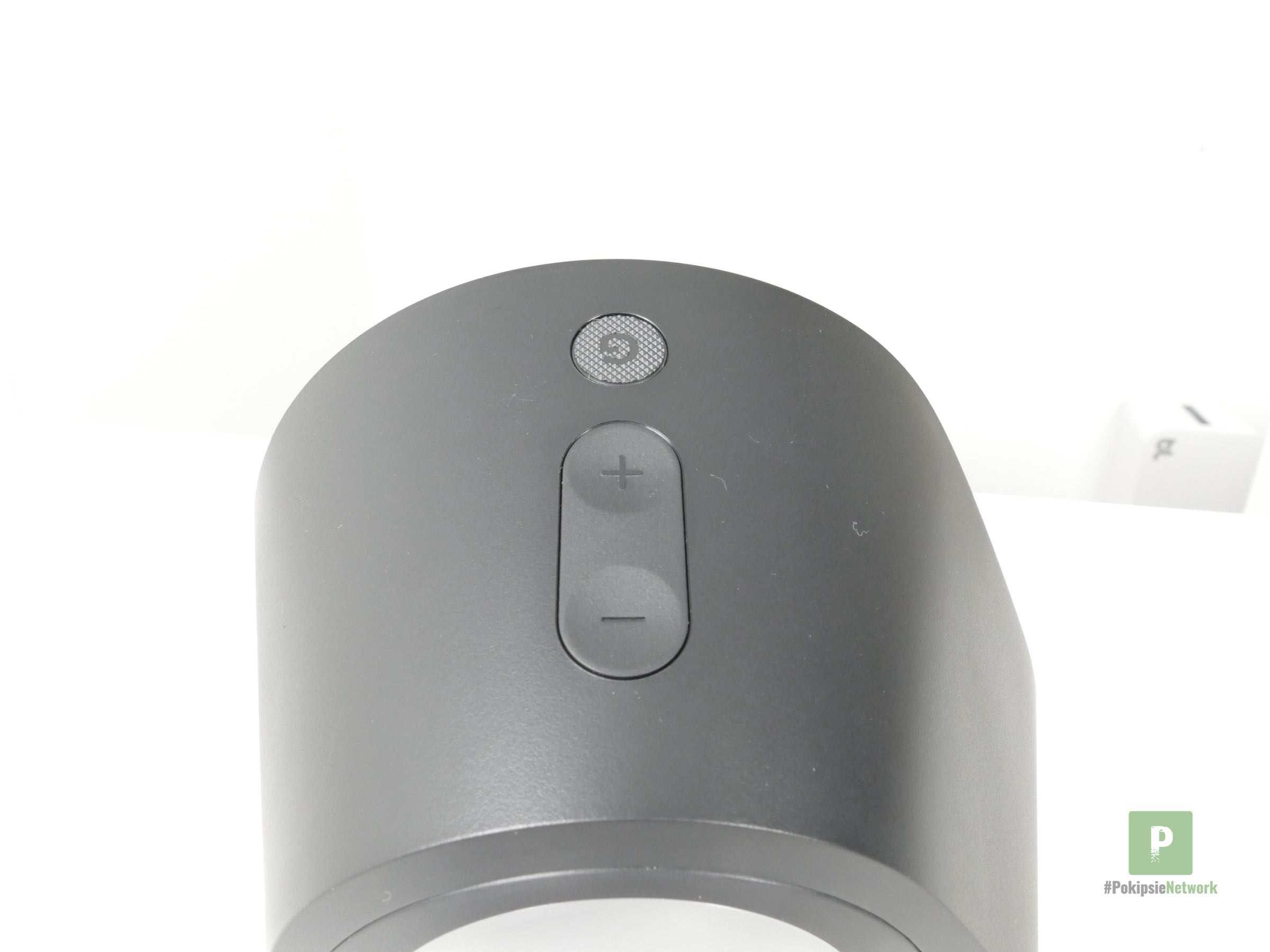 Der Ein-/ und Ausschalt- sowie Laut-/ und Leise-Knopf