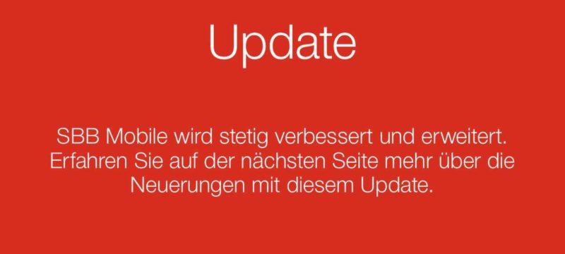 SBB Preview mit Update von FAIRTIQ