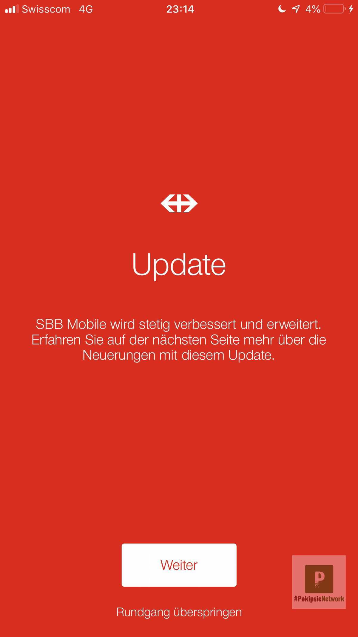 SBB Preview mit Update von FAIRTIQ