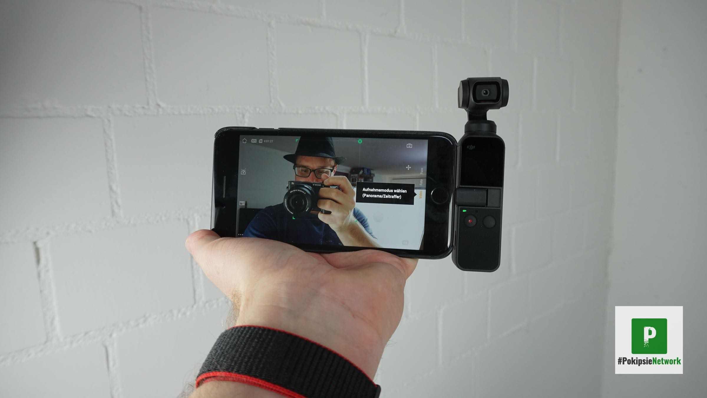 Blick in die Selfie-Kamera