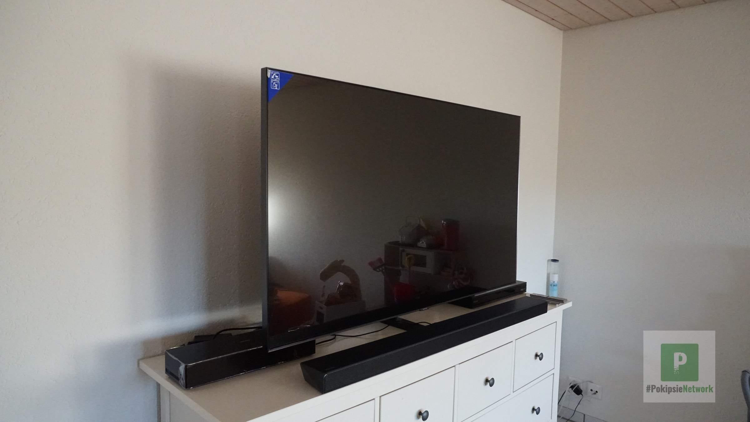 Der Fernseher, der Receiver und die Soundbar